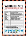 600x800 Construction Site Hazard ID Board