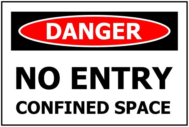 DANGER No Entry Confined Space