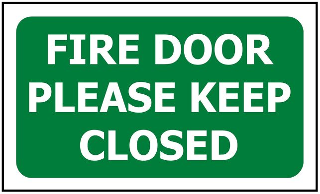 100x60 Fire Door Please Keep Closed