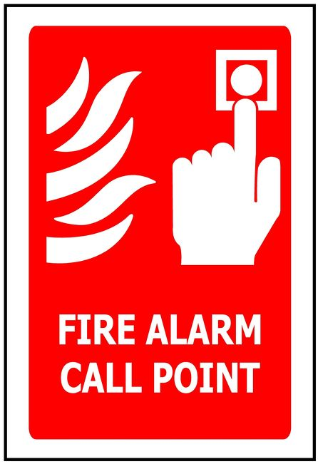 170x250 Fire Alarm Call Point - Self Adhesive