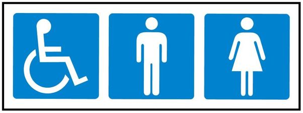 DISABLED MALE FEMALE TOILET SIGN