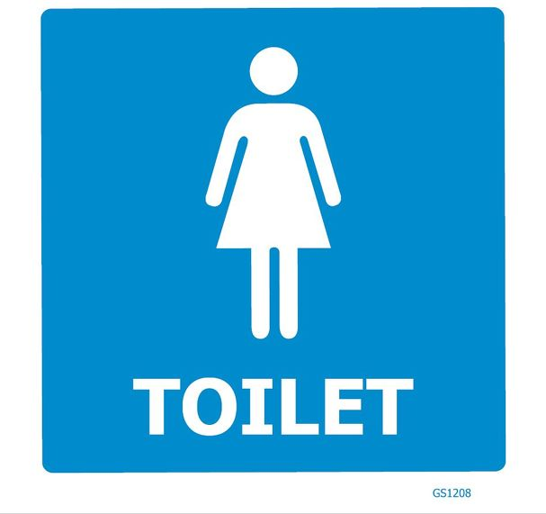 FEMALE TOILET SIGN GS1208