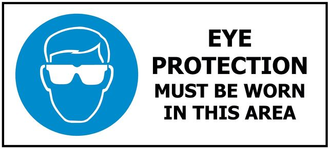 330x145 Eye Protection Must Be Worn