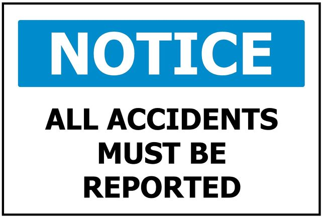 340x240 NOTICE All Accidents must be reported