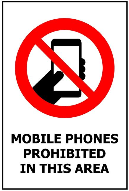 240x340 Mobile Phones Prohibited in this Area