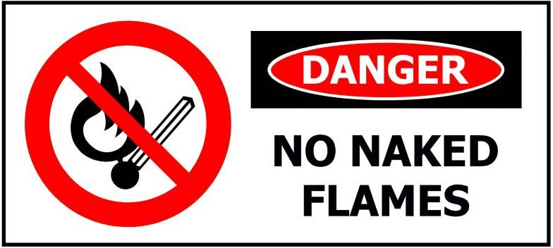 330x145 DANGER No Naked Flames