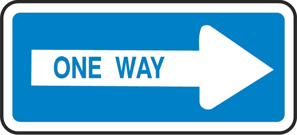 ONE WAY - ARROW RIGHT