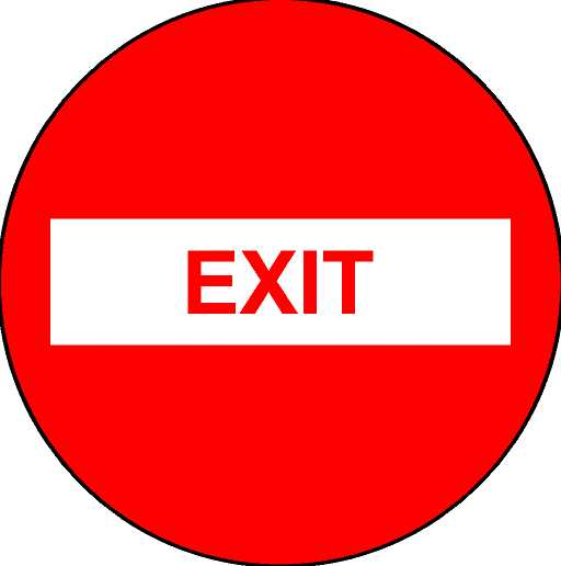 600mm EXIT (Red text red circle)