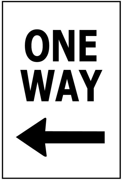 ONE WAY - ARROW