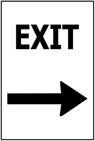 Exit - Arrow RIGHT