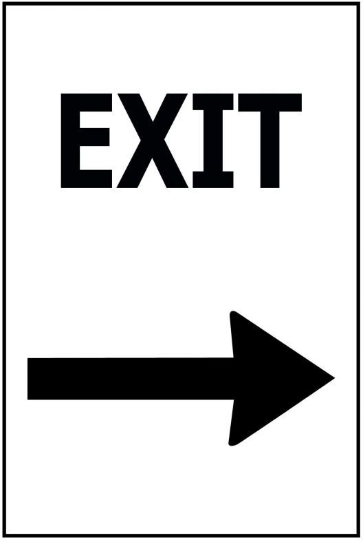 170x250 Exit - Arrow RIGHT