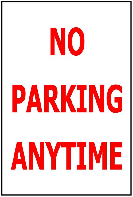 240x340 No Parking Anytime