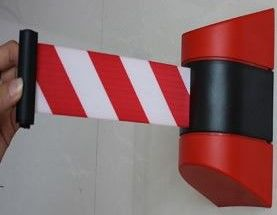 Wall Mounted Red / White Retractable Belt 10m
