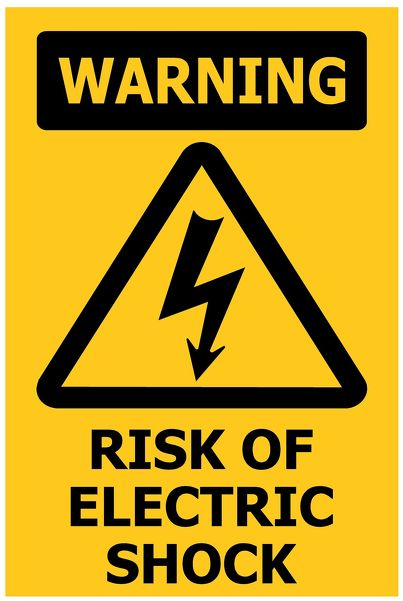 100x150 WARNING Risk of Electric Shock
