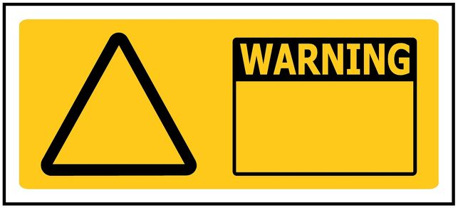 330x145 WARNING Custom - Self Adhesive